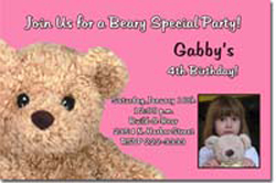 Design online, download jpg immediately DIY buildabear party birthday Invitations