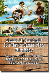 Design online, download jpg immediately DIY bunk'd party birthday Invitations