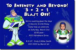 Design online, download jpg immediately DIY buzz lightyear toy story party birthday Invitations