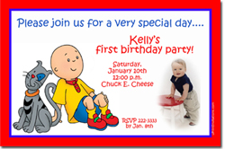 Design online, download jpg immediately DIY cailou party birthday Invitations