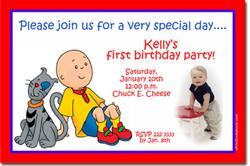 Design online, download jpg immediately DIY cailou birthday Invitations
