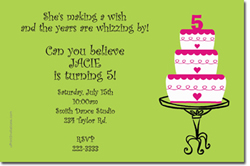 Design online, download jpg immediately DIY cake birthday party Invitations