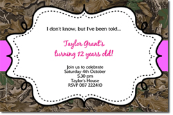 Design online, download jpg immediately DIY camo birthday Invitations