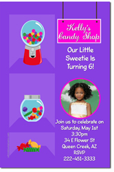Design online, download jpg immediately DIY candy land party birthday Invitations
