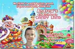Design online, download jpg immediately DIY candyland birthday Invitations
