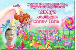 Design online, download jpg immediately DIY candyland party birthday Invitations