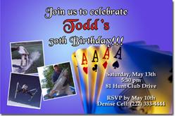 Design online, download jpg immediately DIY poker bachelor party invitations