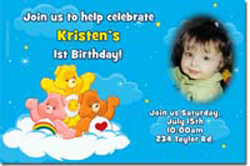 Design online, download jpg immediately DIY carebears party birthday Invitations