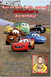 Design online, download jpg immediately DIY cars disney party birthday Invitations