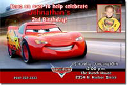 Design online, download jpg immediately DIY cars the movie birthday Invitations