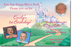 Design online, download jpg immediately DIY castle party birthday Invitations