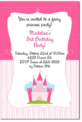 Design online, download jpg immediately DIY castle fairytale party birthday Invitations