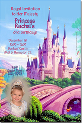 Design online, download jpg immediately DIY castle magical kingdom party birthday Invitations