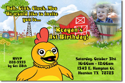 Design online, download jpg immediately DIY Chica birthday Invitations