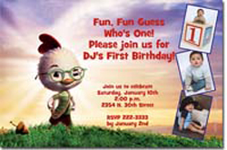 Design online, download jpg immediately DIY chicken little party birthday Invitations
