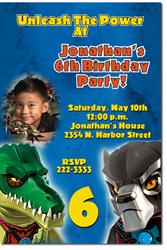 Design online, download jpg immediately DIY chima lego birthday Invitations