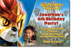 Design online, download jpg immediately DIY chima birthday party Invitations