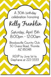 Design online, download jpg immediately DIY Chevron birthday party invitations