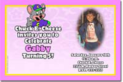 Design online, download jpg immediately DIY chuck e cheese party birthday Invitations