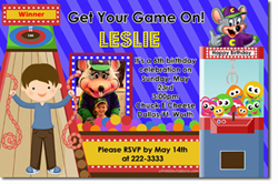 Design online, download jpg immediately DIY chuck E cheese birthday party Invitations