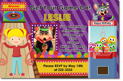 Design online, download jpg immediately DIY chuckecheese party birthday Invitations