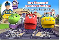 Design online, download jpg immediately DIY chugginton birthday Invitations