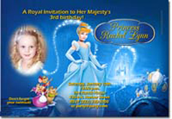 Design online, download jpg immediately DIY cinderella enchanted party birthday Invitations