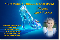 Design online, download jpg immediately DIY cinderella's glass slipper digital download party birthday Invitations