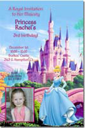 Design online, download jpg immediately DIY cinderella magical kingdom party birthday Invitations