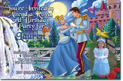 Design online, download jpg immediately DIY cinderella and prince charming party birthday Invitations