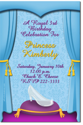 Design online, download jpg immediately DIY cinderella slipper party birthday Invitations