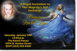 Design online, download jpg immediately DIY cinderella the movie digital download birthday party Invitations