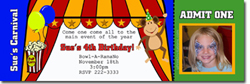 Design online, download jpg immediately DIY circus tent party birthday Invitations