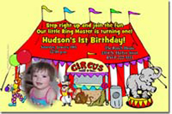 Design online, download jpg immediately DIY circus party birthday Invitations