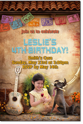Design online, download jpg immediately DIY Disney Coco birthday party Invitations