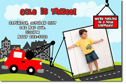 Design online, download jpg immediately DIY construction tow truck birthday Invitations