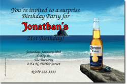 Design online, download jpg immediately DIY corona birthday party invitations