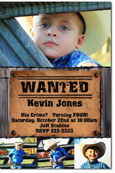 Design online, download jpg immediately DIY cowboy buckaroo birthday party invitations