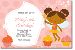 Design online, download jpg immediately DIY cupcake party birthday Invitations