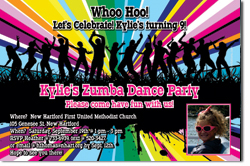 Design online, download jpg immediately DIY dance party birthday Invitations