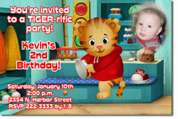 Design online, download jpg immediately DIY daniel tiger party birthday Invitations