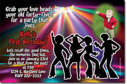 Design online, download jpg immediately DIY disco fever party birthday Invitations