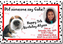 Design online, download jpg immediately DIY dog birthday Invitations