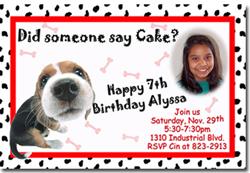 Design online, download jpg immediately DIY dog puppy party birthday Invitations