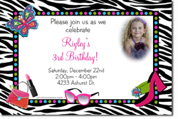Design online, download jpg immediately DIY dressup party birthday Invitations