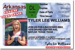 Design online, download jpg immediately DIY girls driver license birthday party Invitations