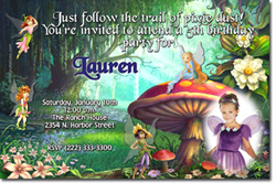 Design online, download jpg immediately DIY fairies party birthday Invitations