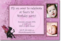 Design online, download jpg immediately DIY fairy party birthday Invitations