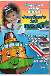 Design online, download jpg immediately DIY fergus the ferry party birthday Invitationss