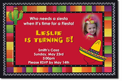 Design online, download jpg immediately DIY fiesta party birthday invitations